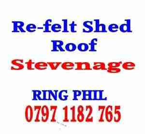 re felt shed roof Stevenage