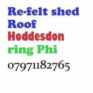 Re felt shed roof Hoddesdon