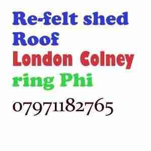 Re felt shed roof London Colney