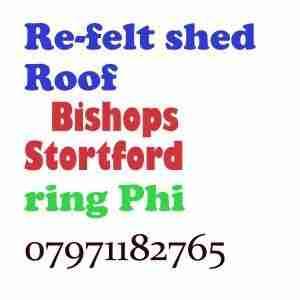 re felt shed roof Bishops Stortford