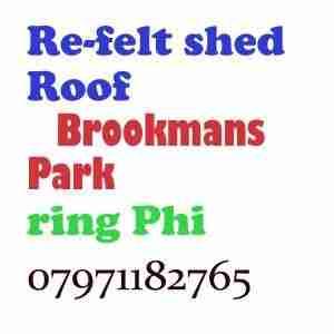 re felt shed roof Brookmans Park