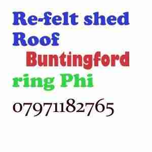 re felt shed roof Buntingford