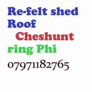 re felt shed roof Cheshunt