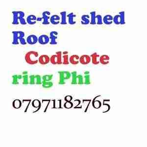 re felt shed roof Codicote
