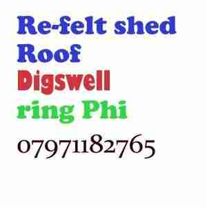 re felt shed roof Digswell