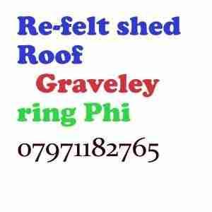 re felt shed roof Graveley