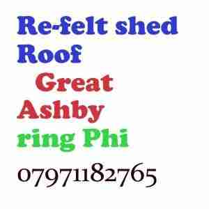 re felt shed roof Great Ashby