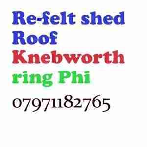 re felt shed roof Knebworth