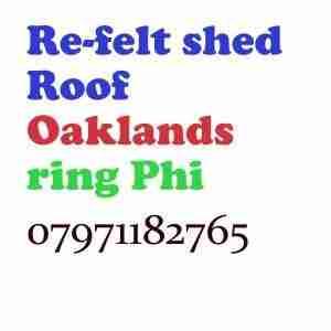 re felt shed roof Oaklands