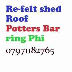 re felt shed roof Potters Bar
