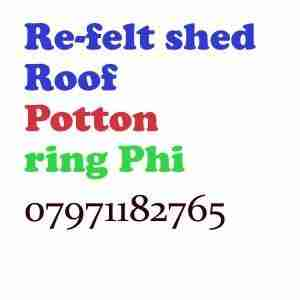 re felt shed roof Potton
