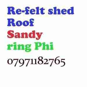 re felt shed roof Sandy