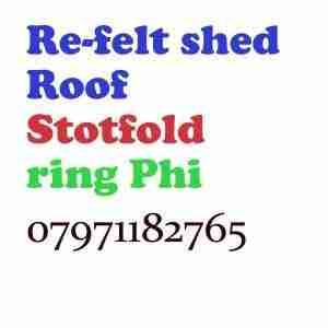 re felt shed roof Shefford