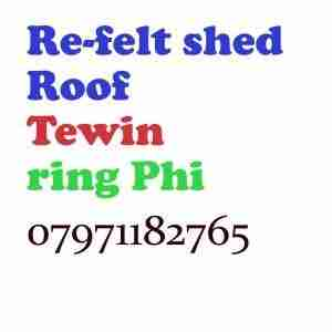 re felt shed roof Tewin