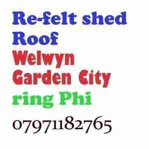 re felt shed roof welwyn garden city