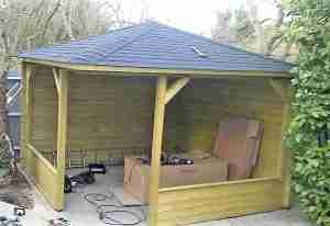 Assemble Mitch Log Cabin Gazebo